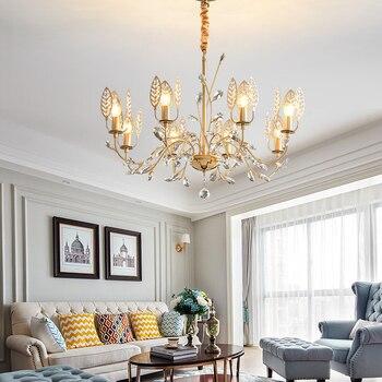 Folha de Ouro Galvanoplastia Led Lustre Lustre moderno K9 Cromo Inoxidável Levou Lustre de Teto de Cristal de Luxo Luz Foyer