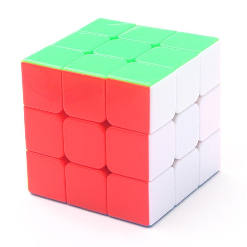 FäHig Shengshou 3x3x3 Regenbogen 3 Schritte Magie Neo Zappeln Cube Stickeless Aufkleber Geschwindigkeit Puzzle Pädagogisches Spielzeug Für Kinder Geschenk Cube Klar Und Unverwechselbar