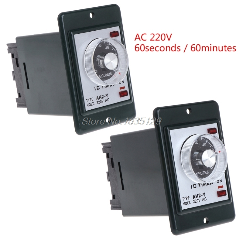 0-60 seconds/minutes Power On Delay Timer Time relay with socket base AC 220V AH2 DropShip0-60 seconds/minutes Power On Delay Timer Time relay with socket base AC 220V AH2 DropShip