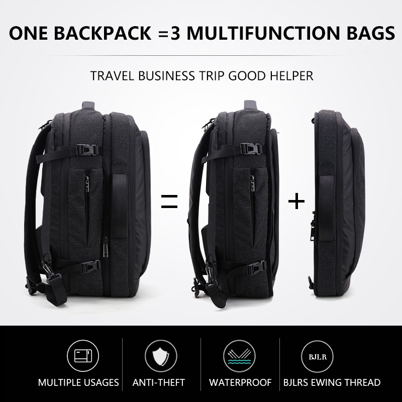 Big Capacity 17 inch Laptop Backpack Multifunction Waterproof Mens Business Travel Back Pack Black Male Quality