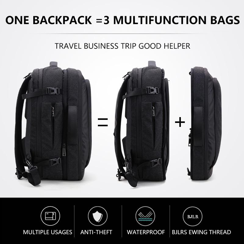 Большой дюймов ёмкость 17 дюймов ноутбук рюкзак Multi Функция водостойкие Мужские Бизнес Путешествия Back Pack черный мужской качество компью