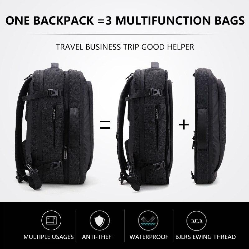 Duża pojemność 17 cal plecak na laptopa wielofunkcyjny plecak wodoodporny mężczyzna biznes plecak podróżny czarny mężczyzna jakości torby komputerowe w Plecaki od Bagaże i torby na  Grupa 1