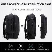 Duża pojemność 17 cal plecak na laptopa wielofunkcyjny plecak wodoodporny mężczyzna biznes plecak podróżny czarny mężczyzna jakości torby komputerowe