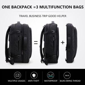 Image 1 - Grande capacidade 17 polegada portátil mochila multifuncional à prova dwaterproof água dos homens de negócios viagem volta pacote preto masculino qualidade sacos computador