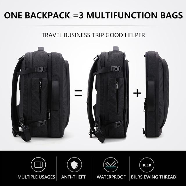 Grande capacidade 17 polegada portátil mochila multifuncional à prova dwaterproof água dos homens de negócios viagem volta pacote preto masculino qualidade sacos computador