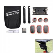 цена на SAHOO 16 In 1 Multi Bike Bicycle Repair Tool Box Kits Set Multitool Cycling Tire Repair Service Portable Tools and Bag