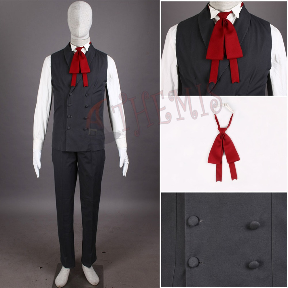 Vampire Hunter Cosplay Hellsing Alucard cosplay Costumes Cool Man Suit and High Cotton Content Long Coat Best Outfits in Anime Costumes from Novelty Special Use