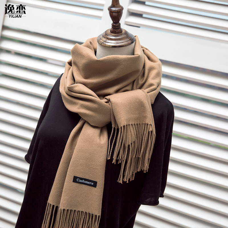 YI LIAN Brand Cashmere Scarf Women Not Hail Loss Top Quality Newest Smooth Warm Winter Scarf