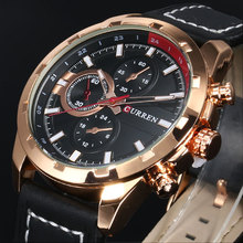 2016 CURREN Hombres Reloj de Cuarzo Relojes de Primeras Marcas de Lujo Famoso Reloj Hombre Reloj Reloj Luminoso reloj Masculino Del Relogio