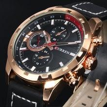 2016 CURREN Relógio de Quartzo Dos Homens Relógios Top Marca de Luxo Famoso Relógio De Pulso Masculino Relógio relógio Luminoso relógio de Pulso Relogio masculino