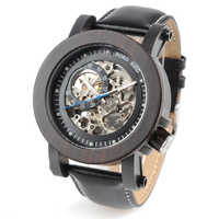 Luxury Brand BOBO BIRD Gear Men Watch Wooden Mechanical Watches Genuine Leather Strap Wristwatch relogios homem B-K10
