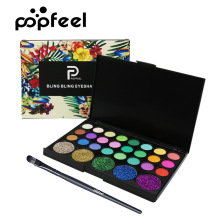 POPFEEL 29 Color Eyeshadow Pearl Dumb Light Big Eye Shadow Belt Brush Suit Makeup