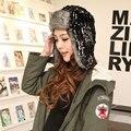 Женщина российской мех головные уборы для женщин 2015 трикотажные лыжный шляпу защиты уха зимний шляпы шапка шапки мочка