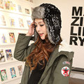 Woman Russian Outdoor Fur Bomber Hats For Women 2015 New Knitted Ski Hat Ear Protection Winter Hats Cap Caps Earflap