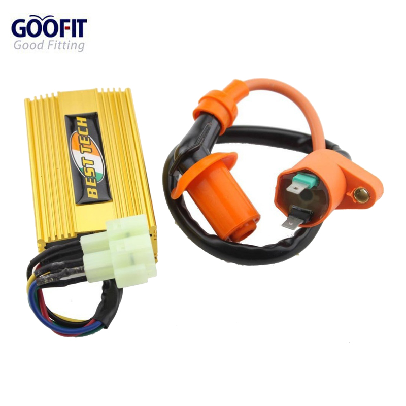 GOOFIT Performance Ignition Coil Ac CDI Box Fit for Chinese Gy6 150cc Scooters Group-88