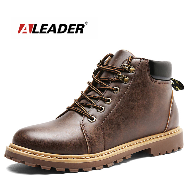 1bc412dc2c294 ALEADER 2017 Nueva Casuales Para Hombre Botas Otoño Botines de Moda trabajo  Zapatos de Los Hombres