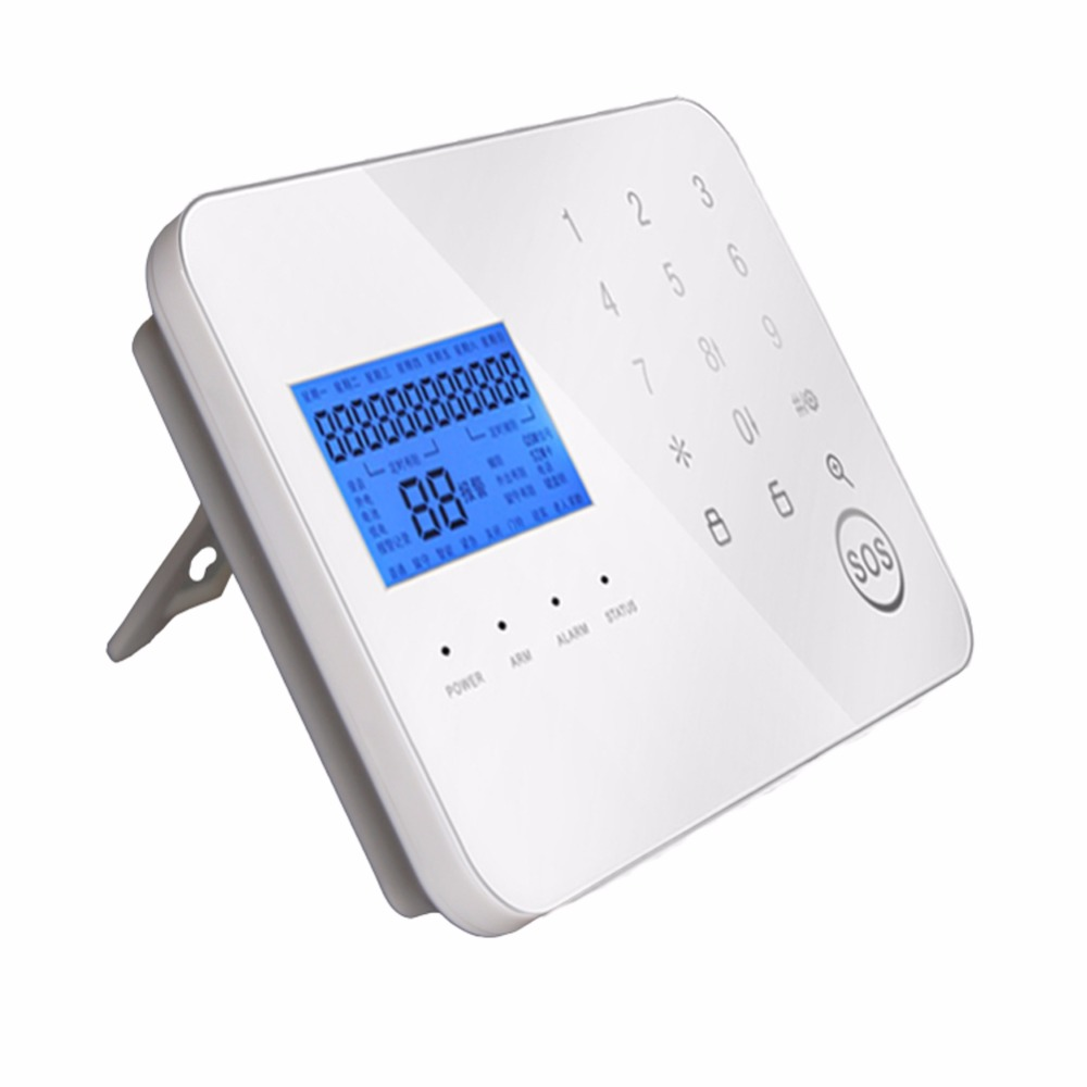 Touch Type PSTN/GSM Dual Network Intelligent Anti-Theft Alarm Wireless LCD Screen Home Security Alarm System with Remote Control