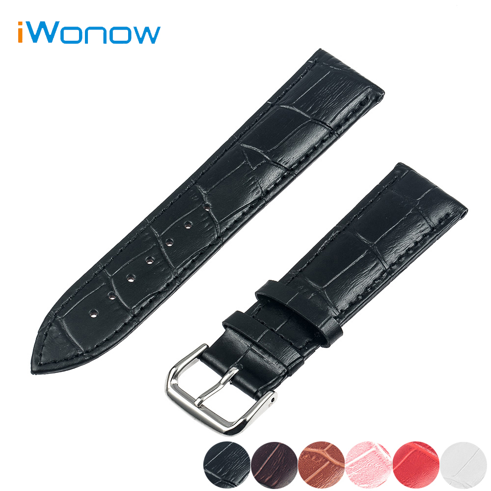Genuine Leather Watch Band 20mm for Samsung Gear S2 Classic R732 / R735 Stainless Steel Pin Buckle Strap Wrist Belt Bracelet genuine leather watch band strap for samsung galaxy gear s2 classic r732 black