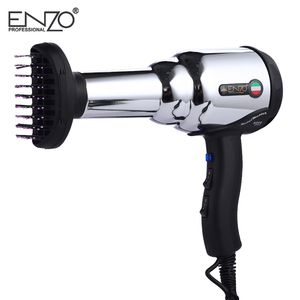 Image 5 - ENZO 8000W Metal body Salon Professional Hair Dryer Volumizer Negative Ion Blow Dryer Brush Hot/Cold With Air Collecting Nozzle