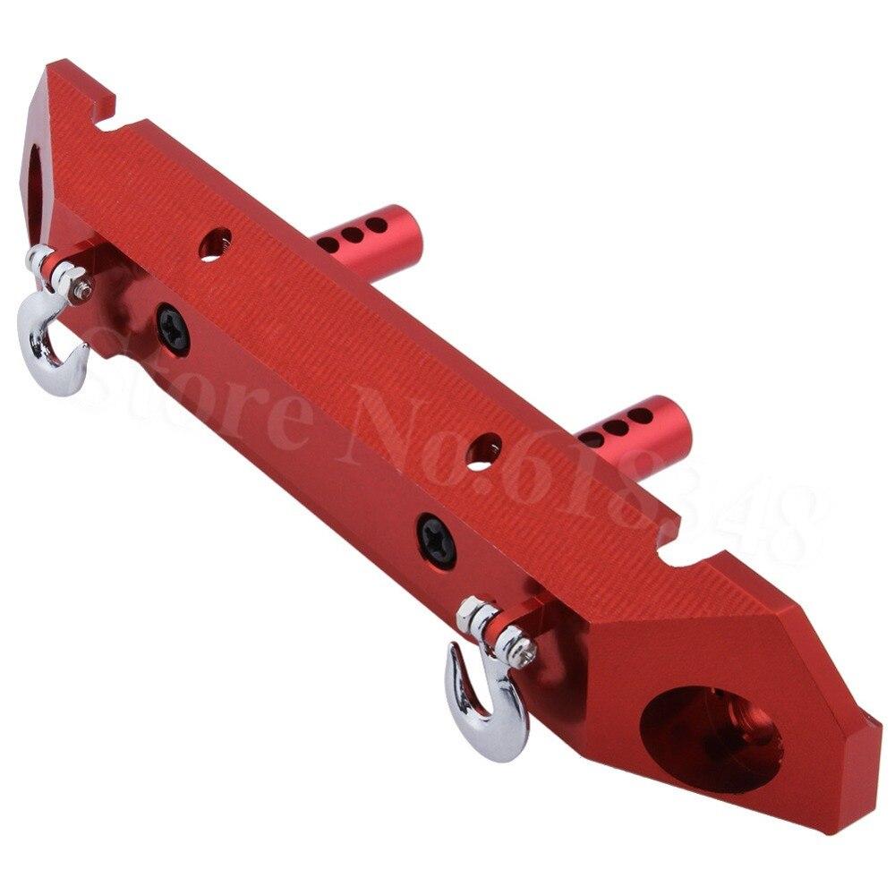 Aluminum Alloy Rear Bumper + Tow Hook For 1/10 Axial SCX10 RC Rock Crawler Hop Up Parts AX80126