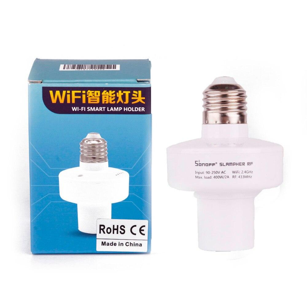 Sonoff Slampher E27 Smart Light Lamp Bulb Holder WiFi Bulbs 433MHz RF Wireless Light Holder For Smart Home