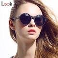 New 2017 marca óculos de sol das mulheres dos homens rodada oversized sunglasses steampunk do vintage óculos de sol zonnebril luneta de soleil gafas
