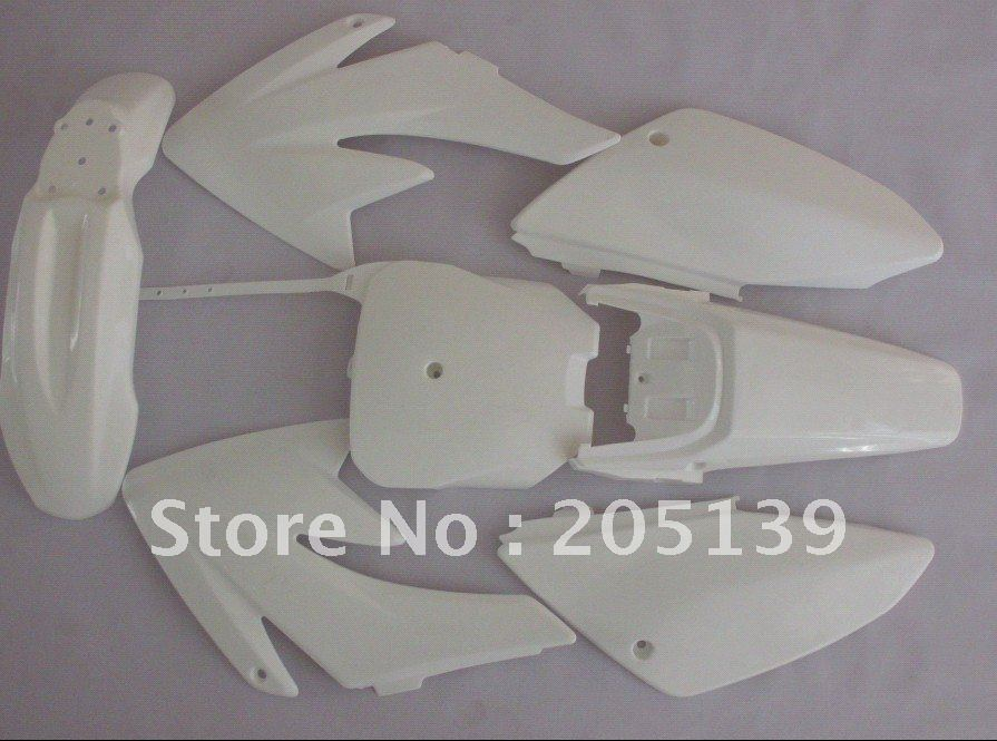 pitbike parts fairing full plastic fender for HONDA MOTORCYCLE MOTO PIT BIKE CRF70 front plastic number plate fender cover fairing for honda crf100 crf80 crf70 xr100 xr80 xr70 style dirt pit bike