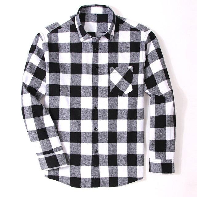 100% Cotton Flannel Plaid Slim Fit Brand Casual Soft Comfortable 4XL 3