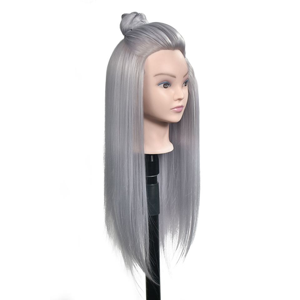 Professional training head with long thick hairs practice Hairdressing mannequin Head hair Styling maniqui tete for sale