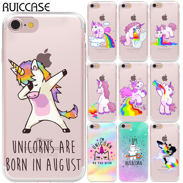 check out 679af 7f8b8 US $1.18 48% OFF|I'm Unicorn As You Wish Soft TPU Case For Coque iPhone 5  5S SE 6 6S 7 8 Plus XR X XS Max Cool Unicorn Phone Silicone Back Cover-in  ...