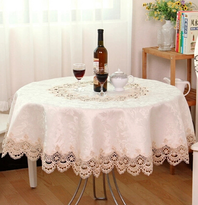 Great U0026340 180cm/70inch European Luxury Round Table Cloth Hotel Cloth Embroidery  Lace Tablecloth Voile Ornament