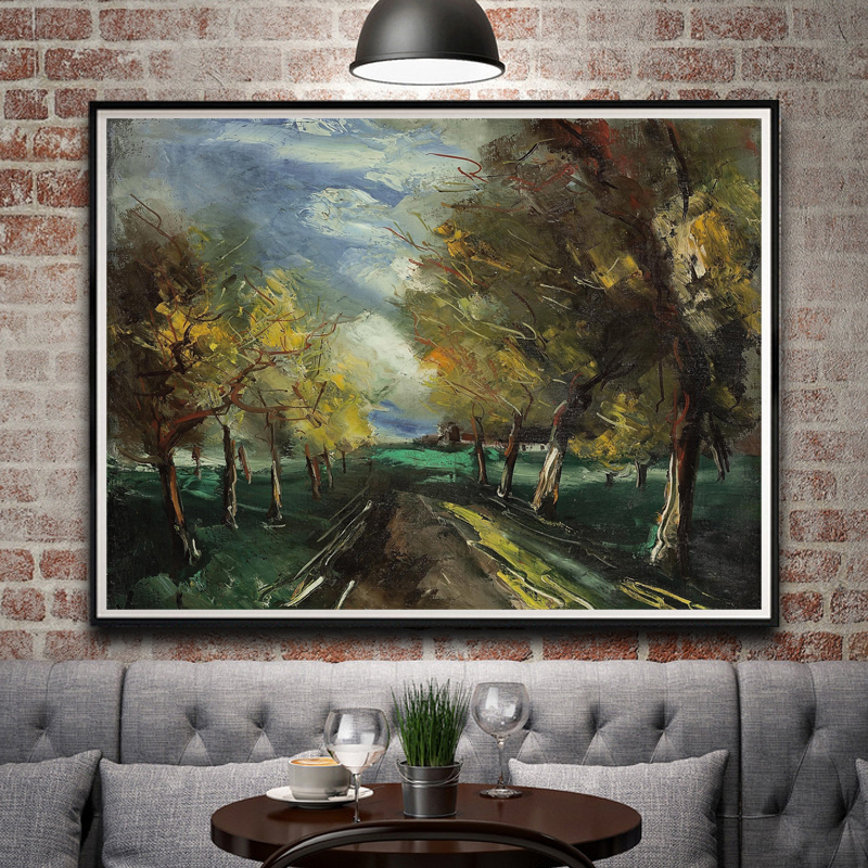 Artwork Nature Landscape Oil Painting Art Silk Fabric Print Poster Home Wall Decor 12x16 18x24 24x32 Inch Unframed Free Shipping-in Painting & ...