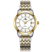 CASIMA Марка Роскошные часы Женщины Моды Платье кварцевые часы Кожаный ремешок водонепроницаемый 100 м #9002