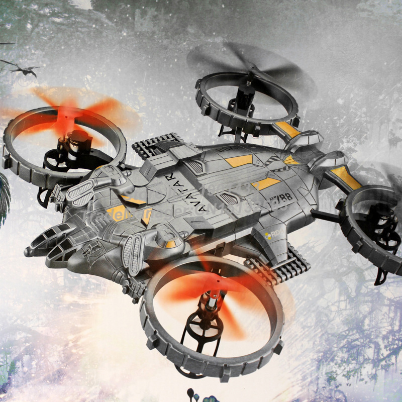 New Arrival YD-712C Avatar Battle Headoffice Quadcopter with HD Camera Colorful LED Lights RC Drone Big Size Remote Control Toy cheerson cx 20 cx20 rc quadcopter original parts sports hd dv camera 12 0mp
