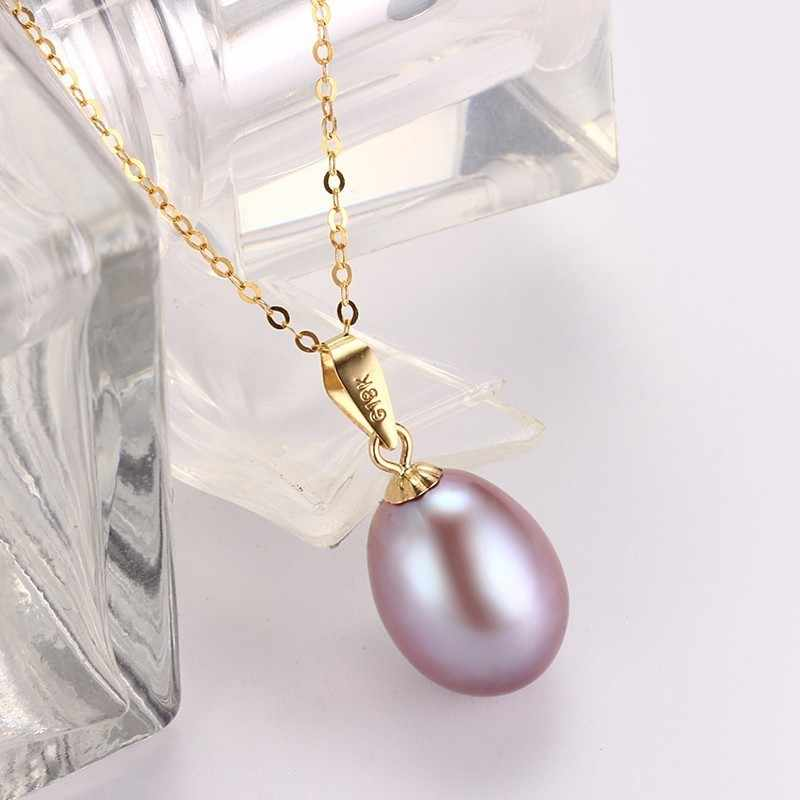 Dainashi noble และหรูหรา 18 พันทองธรรมชาติสีขาว/สีชมพู/สีม่วง pearl จี้ fine เครื่องประดับสำหรับของขวัญสตรี