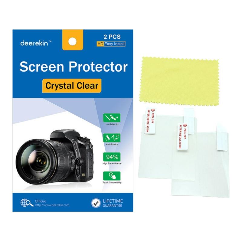 2x Deerekin LCD Screen Protector Protective Film For Nikon Coolpix A B700 B600 B500 A1000 A900 A300 A100 A10 S3700 S2900 S3600