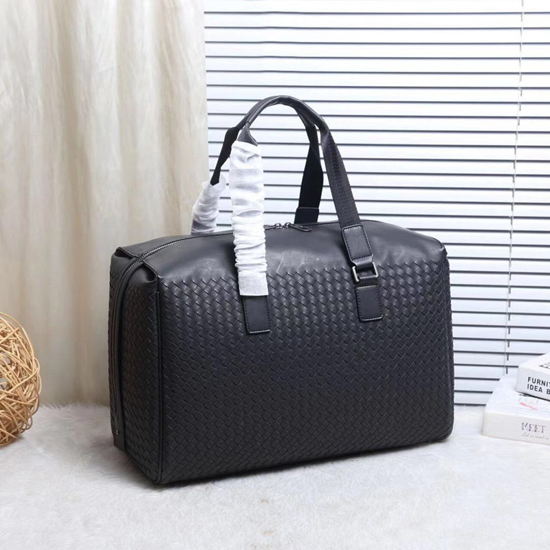 Kaisiludi leather knitting men s and women s travel bag waxing leather shopping fitness bag single