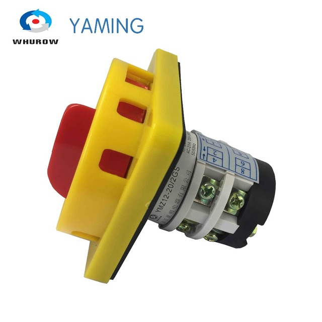 Manual Transfer Switch 20a 2 Poles 2 Position Padlock Change Over