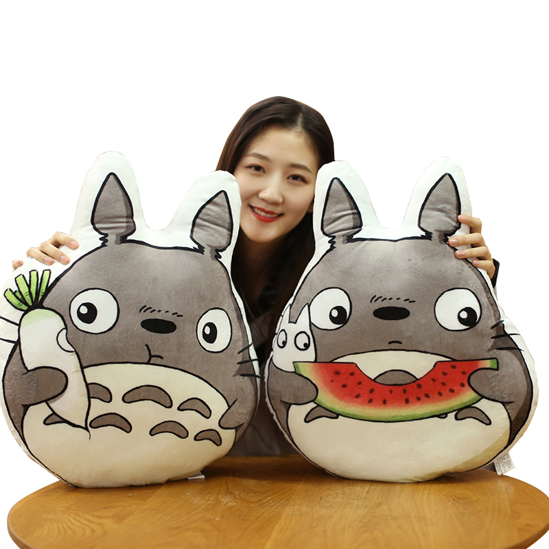 1PC 50CM Japan Anime Totoro Plush Pillows Stuffed Soft Cartoon Animal Toys Dolls for Kids Baby Cute Brirthday Gift Doll Cushion 1pc 16cm mini kawaii animal plush toy cute rabbit owl raccoon panda chicken dolls with foam partical kids gift wedding dolls