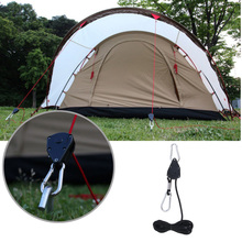 High Quality Quick Knot Tent Wind Rope Buckle Guy Line Runner Camping Awning Pulley Ratchet Hangers Tensioner