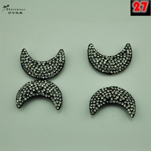 High grade MOON handmade rhinestone metal buckles for fur coat and garment and cashmere model clothing accessories