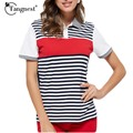 TANGNEST New Summer Arrival Women polo Shirts 2016 Striped Fashion Woman Causal  Breathable polo Popular Top Shirts  MTP317