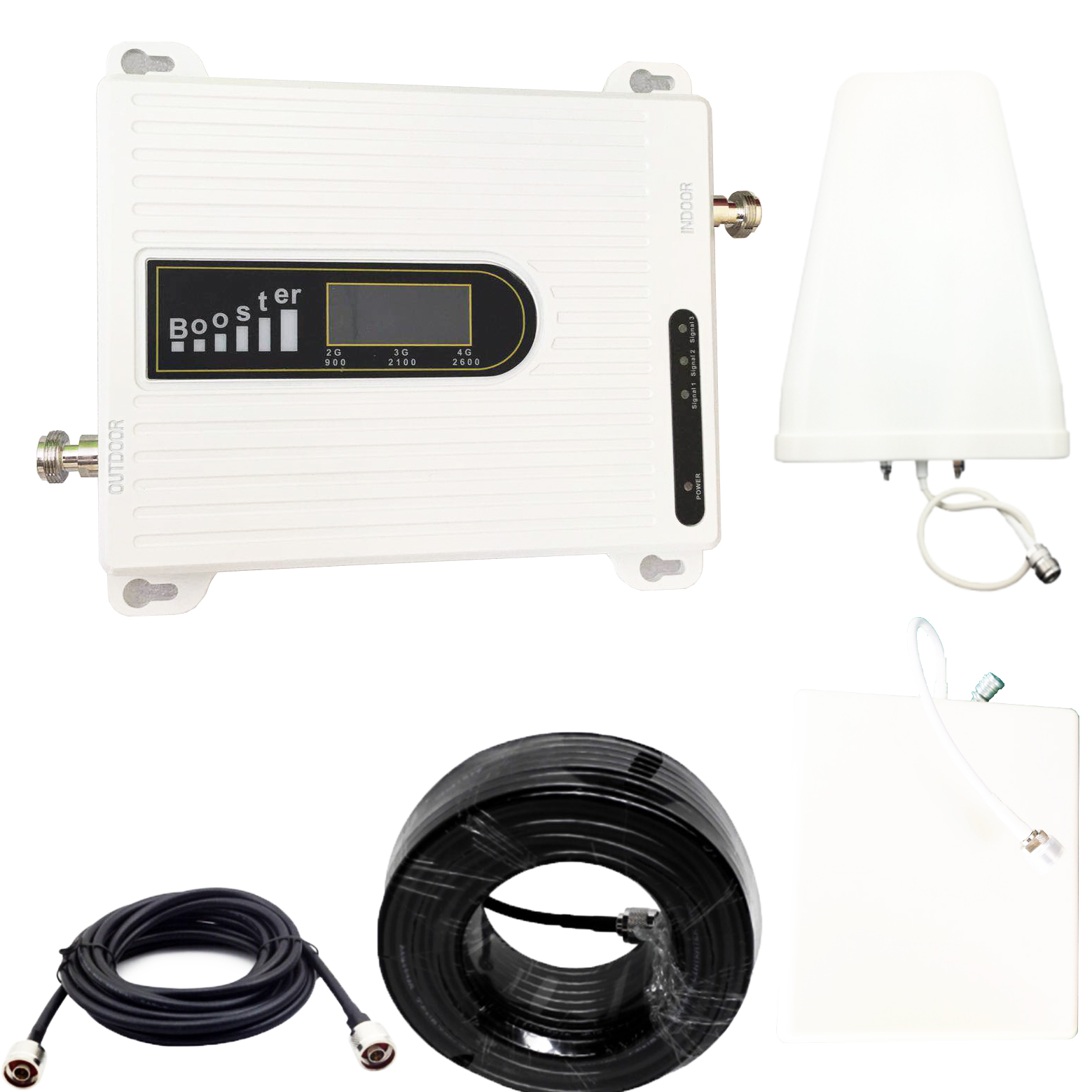 Triple Band Signal Booster 900 2100 2600 Mhz  Mobile Phone Signal Repeater Cell Phone Cellular Amplifier 2600MHZ 2g 3g 4g GSM