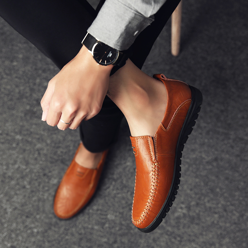 HTB17w4PaLfsK1RjSszbq6AqBXXaI Genuine Leather Men Casual Shoes Luxury Brand Designer Mens Loafers Moccasins Breathable Slip on Driving Shoes Plus Size 37-47