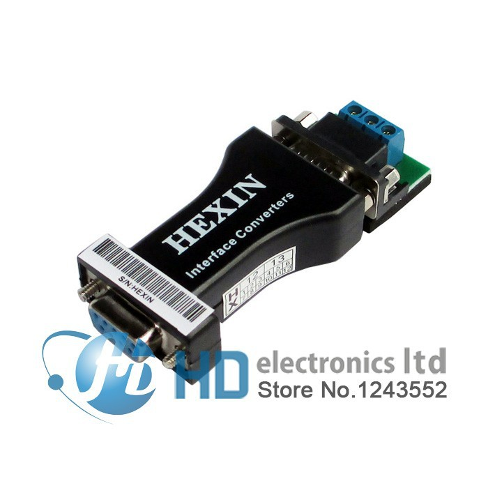 HEXIN RS232 à RS485 Interface de Données du port série Adaptateur Convertisseur 1.2 KM 3 Bit Gros