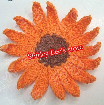 400X(6,5 см) супер красивое кружево кроше ручная работа ромашки ремесла, вязание крючком цветок микс 5 цветов