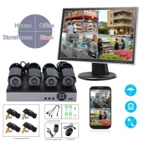 4 PCS 720P AHD Cameras 4CH 1080N HDMI DVR 100W AHD Surveillance Kit Outdoor Network Webcam Home Security System Low Price Hot