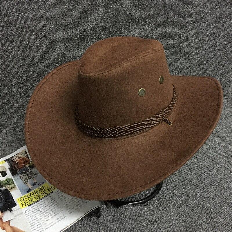 7124e4647510 Unisex Cotton Cowboy Hat Travel Performance Caps Cowgirl Hats Solid Casual  Sun Visor Cap Women Man