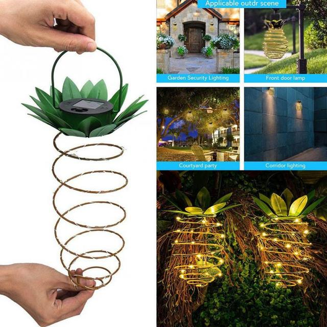 Garden Decor Pineapple Solar Lights  2