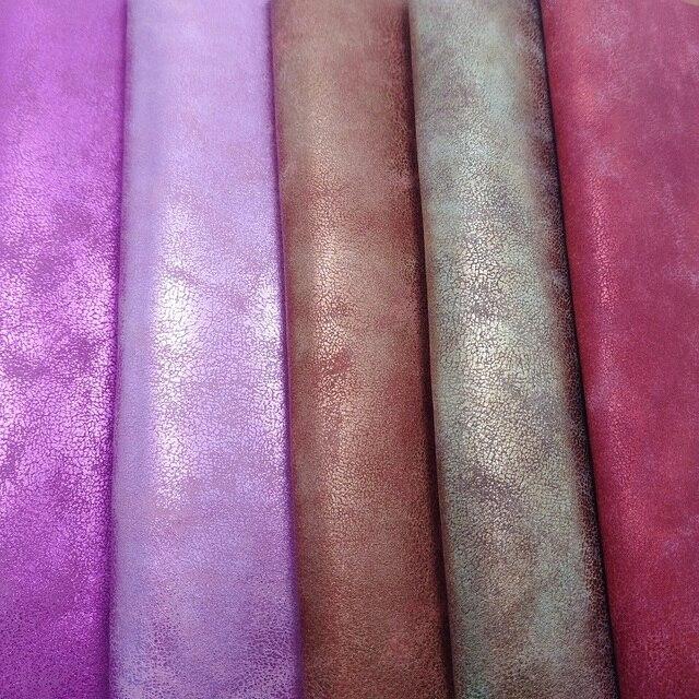 2 stücke 21x29 cm Metallic Leder Vintage Faux Leder Synthetische Leder PU Leder für DIY zubehör 2S16